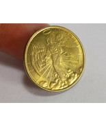 LUCKY ANGEL TOKEN GOOD LUCK COIN ANGEL Floating in Clouds Double Sided - $1.97
