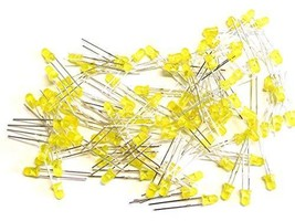Universal Solder 100 pcs LED Yellow 3mm, Tinted, Clear, T-1 Package - $1.99