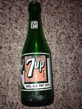 """1950's 7 Up green 7 fl oz bottle-""""The Fresh Up Drink""""- Iron MountaIn Mic... - $22.72"""