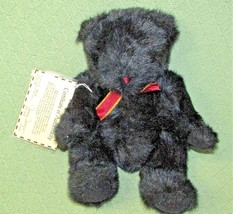 Vintage 1993 Mary Meyer Granma's Bear Limited Edition Black Teddy Jointed Coa - $23.33