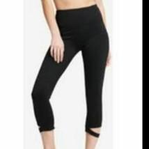 DKNY Sport High-Waist Cutout Cropped Leggings Black M - $10.88