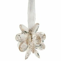Crystal Clear Acrylic Flower Christmas Tree Ornament with Matching Ribbo... - $27.71