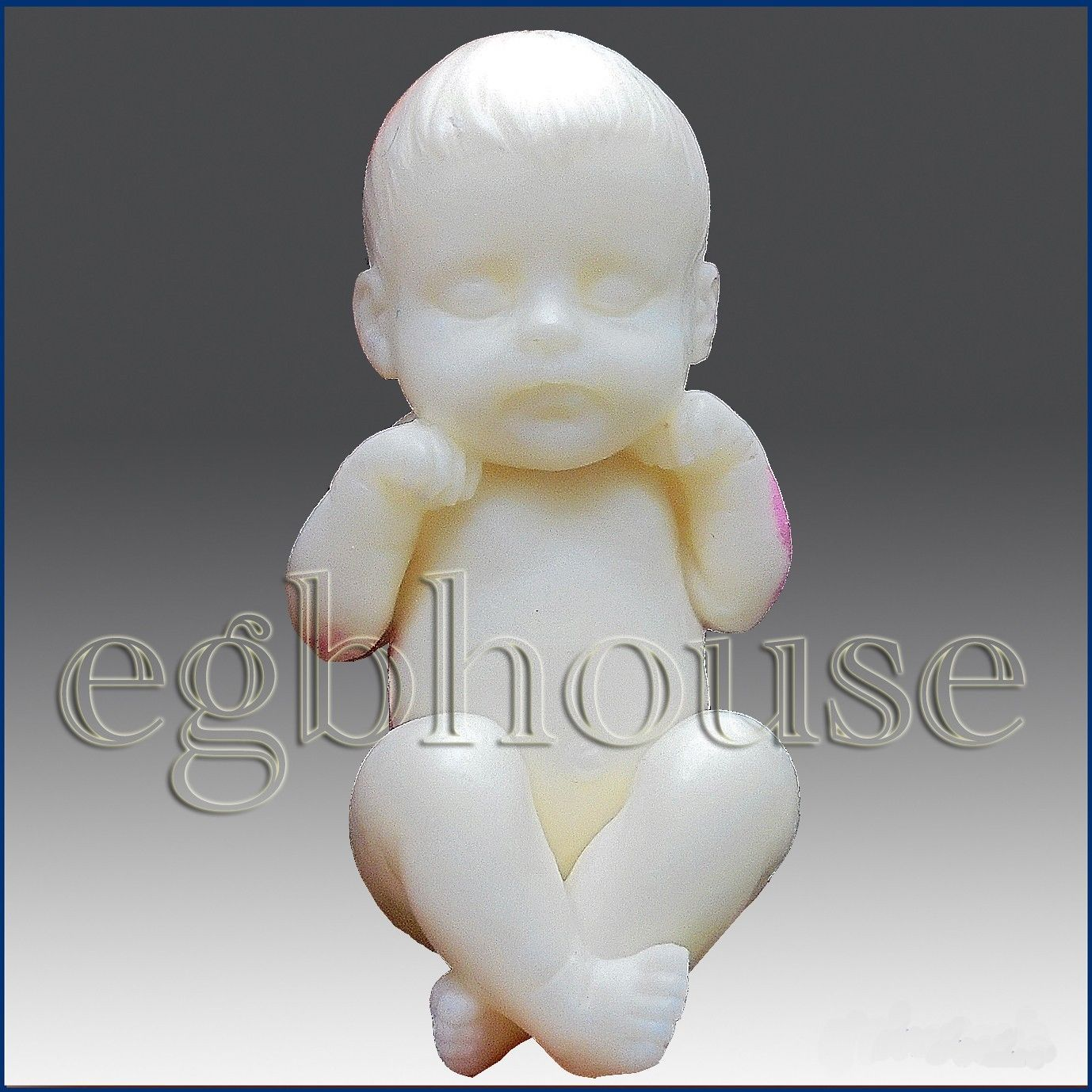 3D Likfelike//Newborn Silicone Soap Mold-Baby having fun 2 parts assembled mold