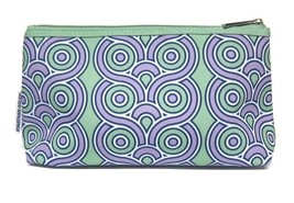 Clinique Jonathan Adler Zippered Light Green & Purple Makeup Bag - NEW - $7.94