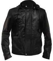 Tom Cruise Mission Impossible Ghost Protocol Black Hooded Faux Leather Jacket image 1