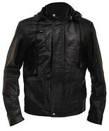 Tom Cruise Mission Impossible Ghost Protocol Black Hooded Faux Leather J... - $88.00
