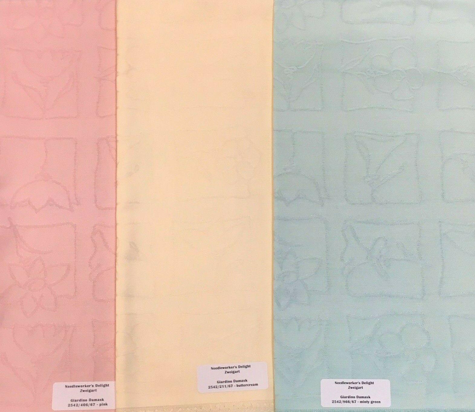 Zweigart Giardino Damask Fabric Embroidery or Needlework Backing RARE 3 Colors - $16.95