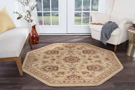 Octagon Traditional Oriental Persian Beige Area Rug **FREE SHIPPING** - €87,25 EUR+