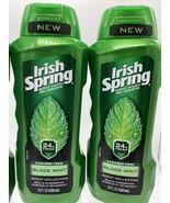 (2) Irish Spring Black Mint Scent Men's Moisturizing Body Wash Shower Ge... - $17.99