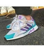 adidas Mens Tresc Run EH1352 Running Shoes White/Purple Multi SIzes NWB - $49.98