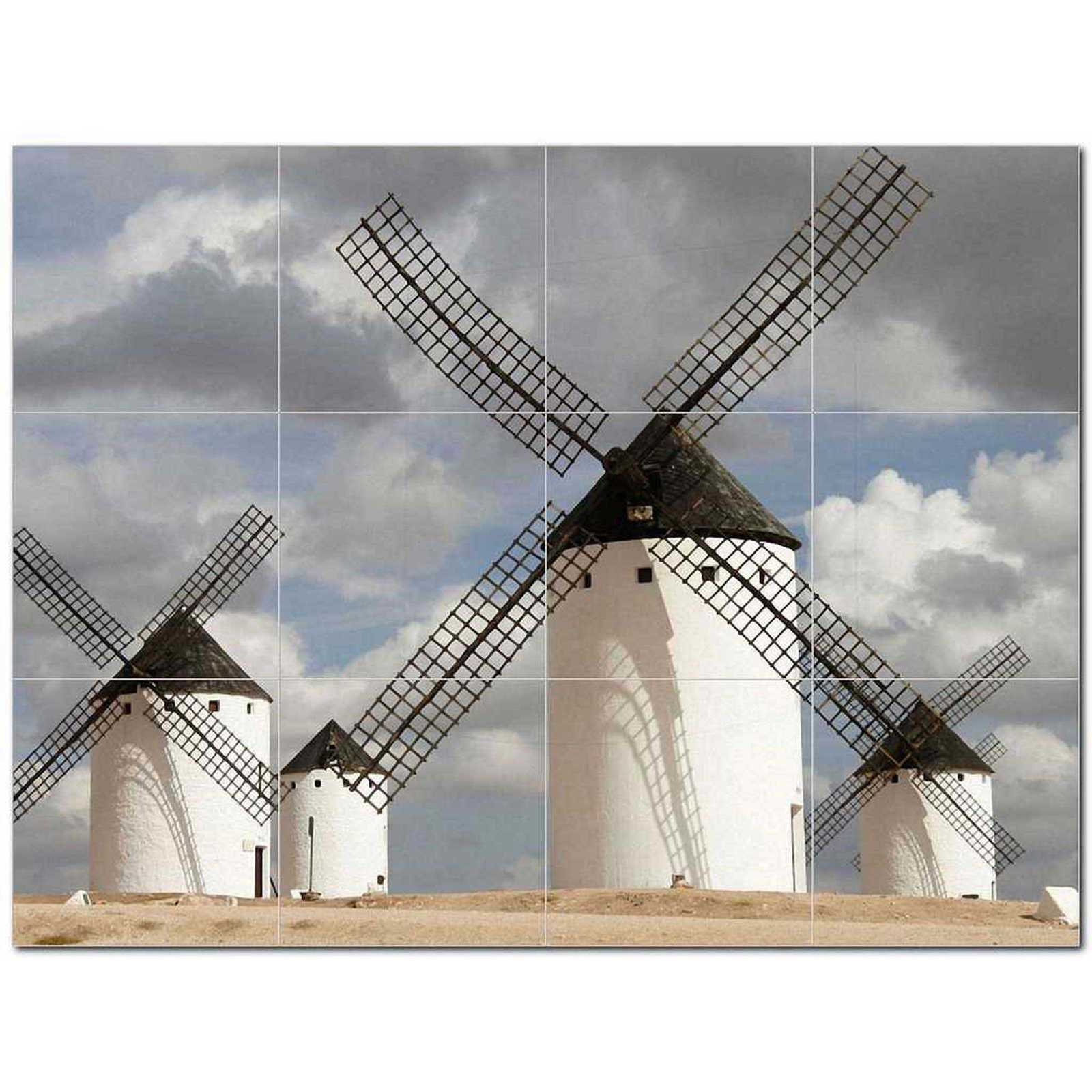 Primary image for Windmill Photo Ceramic Tile Mural Kitchen Backsplash Bathroom Shower BAZ406338