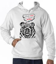 British Bulldog All You Need - New Cotton White Hoodie - $39.49