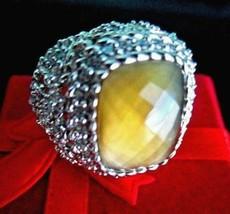 Judith Ripka Sterling Diamonique Champagne Limon Quartz Ring Size 6 Gift... - $119.95
