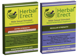 Herbal Erect - COMBO PACK (Regular Strength & Extra Strength) - $18.50
