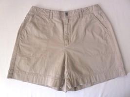 Liz Claiborne LIZWEAR Womens Shorts 10 Khaki Beige - $21.77