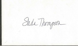 Sada Thompson Signed 3x5 Index Card - $18.58