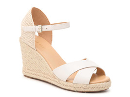 NINE WEST Joydyn3 Cream Leather Espadrille Sandals sz 9.5 women - $22.72