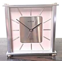 Bulova Quarts Number B1706 Grand Prix Clock, Antique Brass Finish - $40.58