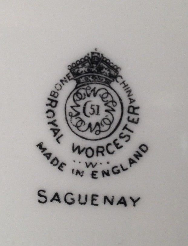 Royal Worcester Saguenay bread & butter plate ( 16 available )