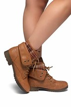 Herstyle Slgabrianna Expedition Wome's Military Combat Boots Tan 11 - $37.62