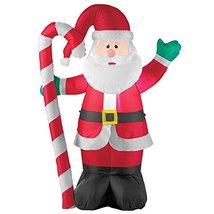 Inflatable Waving Santa & Candycane Outdoor Christmas Decoration - $66.00