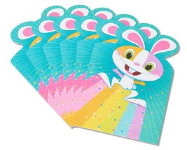 American Greetings Rainbow Bunny Easter Card, 6 Count - $6.99