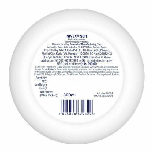 2 Pack NIVEA Soft Light Moisturizer With Vitamin C smooth,supple & healthy 300ml