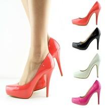 Ladies Anne Michelle Patent Court Shoes High Heels Smart Work Party Ladi... - €18,01 EUR