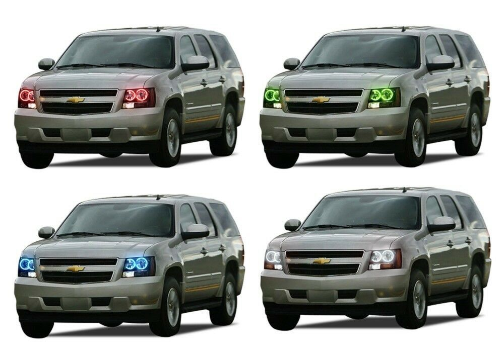 Primary image for for Chevrolet Tahoe 07-13 RGB Multi Color LED Halo kit for Headlights