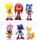 Sonic Figures Toy Pvc 6Pcs/Set Sonic Shadow Tails Characters Figure Toys... - $14.59
