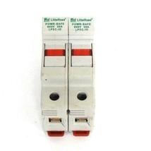 LOT OF 2 LITTLEFUSE LPSC-ID FUSEHOLDERS LPSCID 600V 30A W/ TWO KLDR 2 FUSES