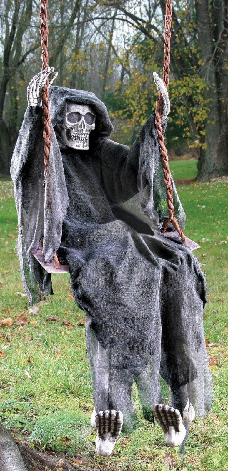 Life Size 5 FT HANGING Swinging Skeleton Dead OUTDOOR HALLOWEEN Decor Prop NEW