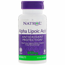 Natrol Alpha Lipoic Acid TR Time Release 600mg 45 Tablets - $9.26