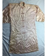 VTG Asian Mandarin Collar Dress Coat robe Jacket Frog Closure Lai Fong H... - $14.94