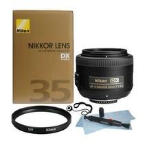 Nikon AF-S DX Nikkor 35mm f/1.8G Lens + 52mm UV Filter + Lens Pen + Cap ... - $187.11