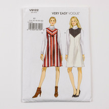 Vogue Sewing Pattern V9122 Misses Yoke Front Jumper Dress  Size 14-22 Uncut - $12.85