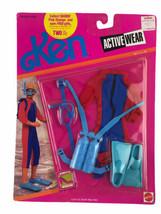 Mattel 1990 Ken Active Wear Scuba Diving Outfit Accessories New Clothing - $37.25