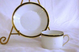CH Field Haviland Limoges Ambassade Blue Faits Main Cup And Saucer Set - $18.01