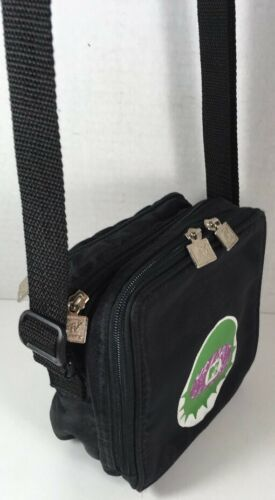 MTV Vintage Small Black Fabric Waist Fanny Pack Crossbody Bag-RARE!