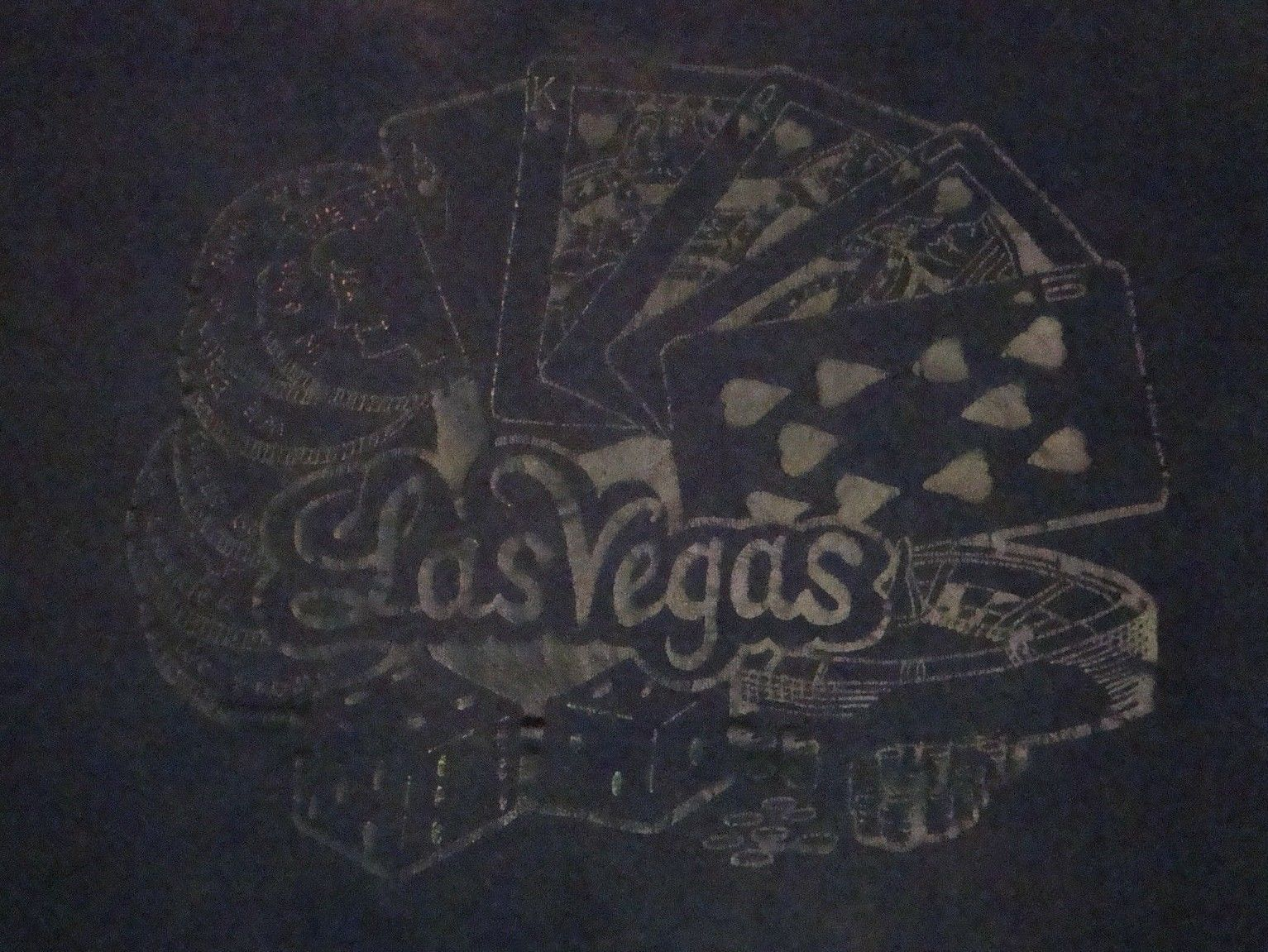 Primary image for Vintage Las Vegas Gambling Casino Card Games Tourist T Shirt L