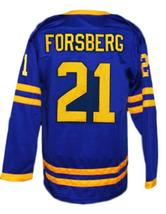 Custom Name # Peter Foppa Forsberg Sweden Hockey Jersey New Blue Any Size image 4