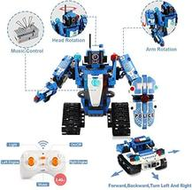 Mould King 2 in 1 Building Block Robot Policemen Toy with Remote Control Robot E image 6