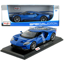Maisto Special Edition 1:18 Scale Die Cast Blue Silver Sports Coupe 2017... - $49.99