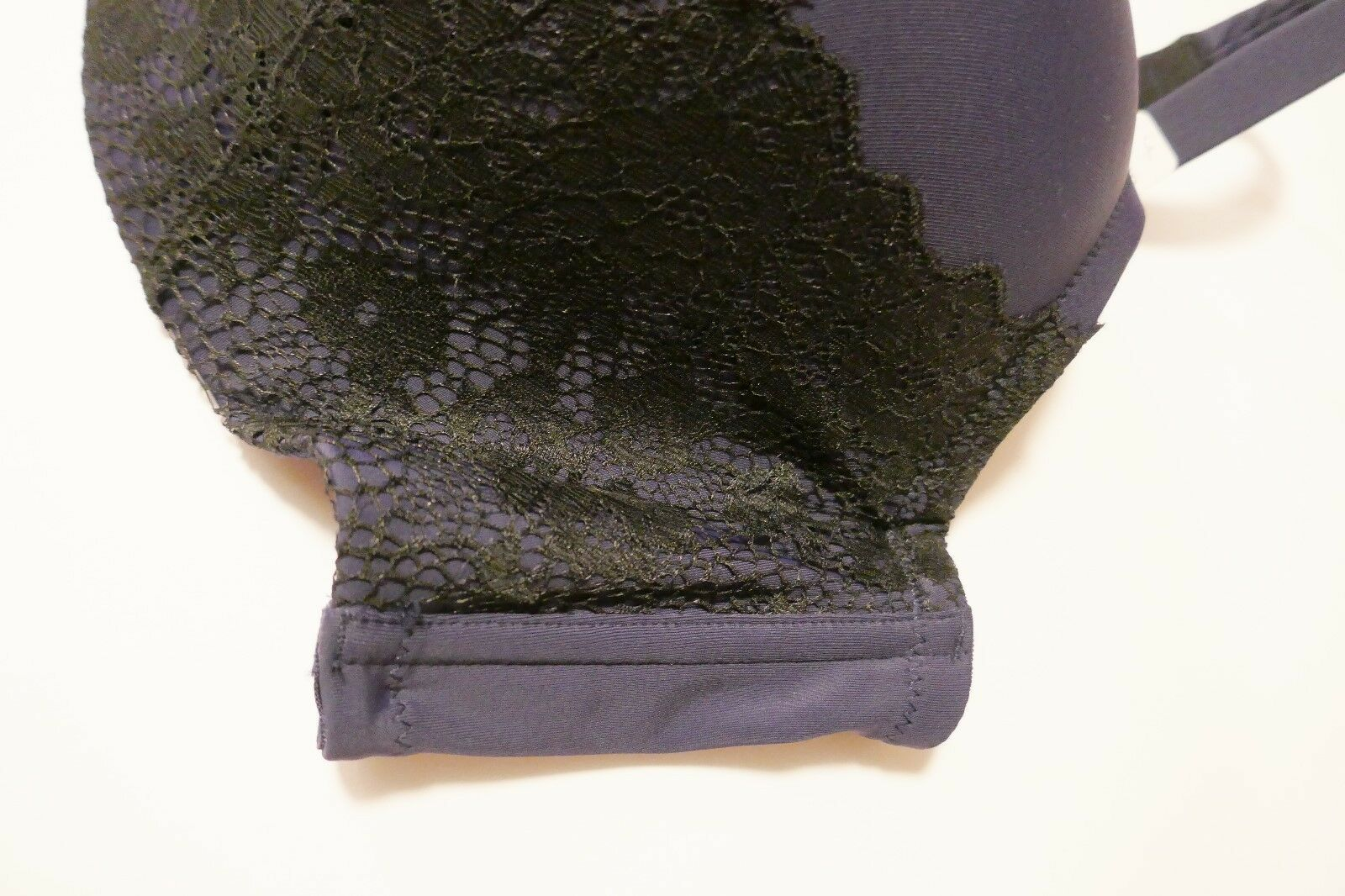 1228f39b19 Thyme Maternity Bra Size 44 DDD Navy Blue Black Lace Bra MSRP $60