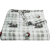 Berkshire Blanket Snoopy Sleigh VelvetLoft Blanket - Full-Queen, Grey - $59.39