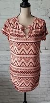 Bobbie Brooks Orange Tones short sleeved top, soft & Stretchy Sides Sz L NEW - $14.84