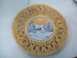 """Hand Painted Birch Bark Plate, Decorative Plate 6.5"""" - $12.86"""