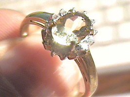 STERLING SILVER 925  Ring 7 lemon Citrine Natural solitaire sapphire dai... - £40.41 GBP