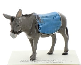 Hagen-Renaker Miniature Ceramic Donkey Figurine with Blanket image 2