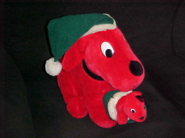 "11"" X-Mas Clifford The Big Red Dog With Puppy In Mouth By Dakin 1992 - $49.49"